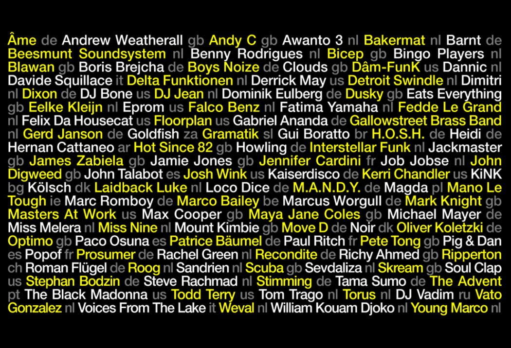 Amsterdam Dance Event Announces 2nd Wave of Artists for 20th