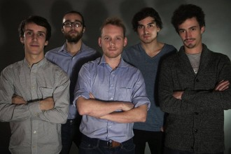 La Bacchanale Associate Team: (Left-Right) Jerome - Artistic and Audio/Visual Director, Francois - Technical Director, Martin - Communication & Marketing, Victor - Logistic & Finance, Adrien - Programming and External Partnerships